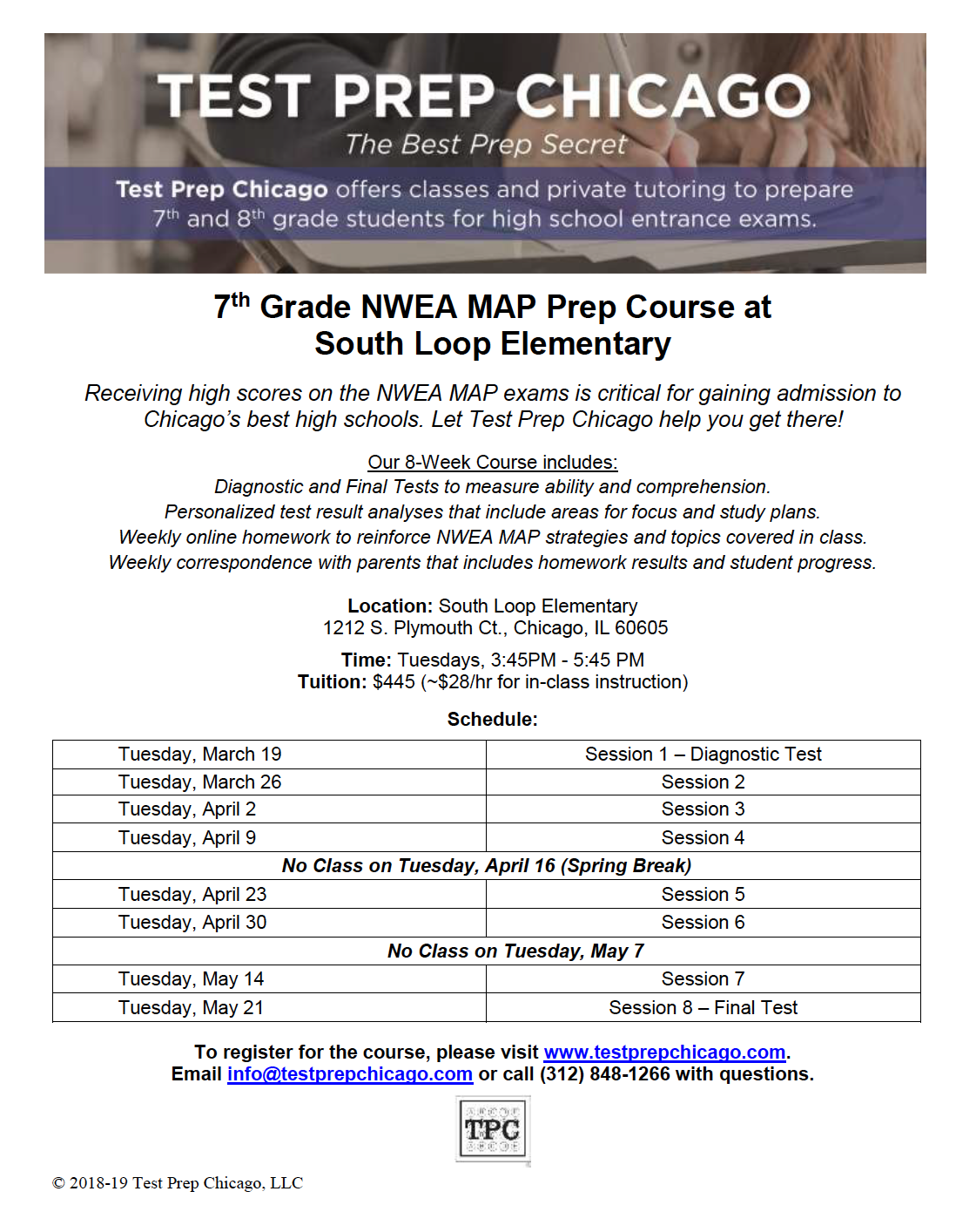 7th Grade NWEA Test Prep Course – This Spring – South Loop